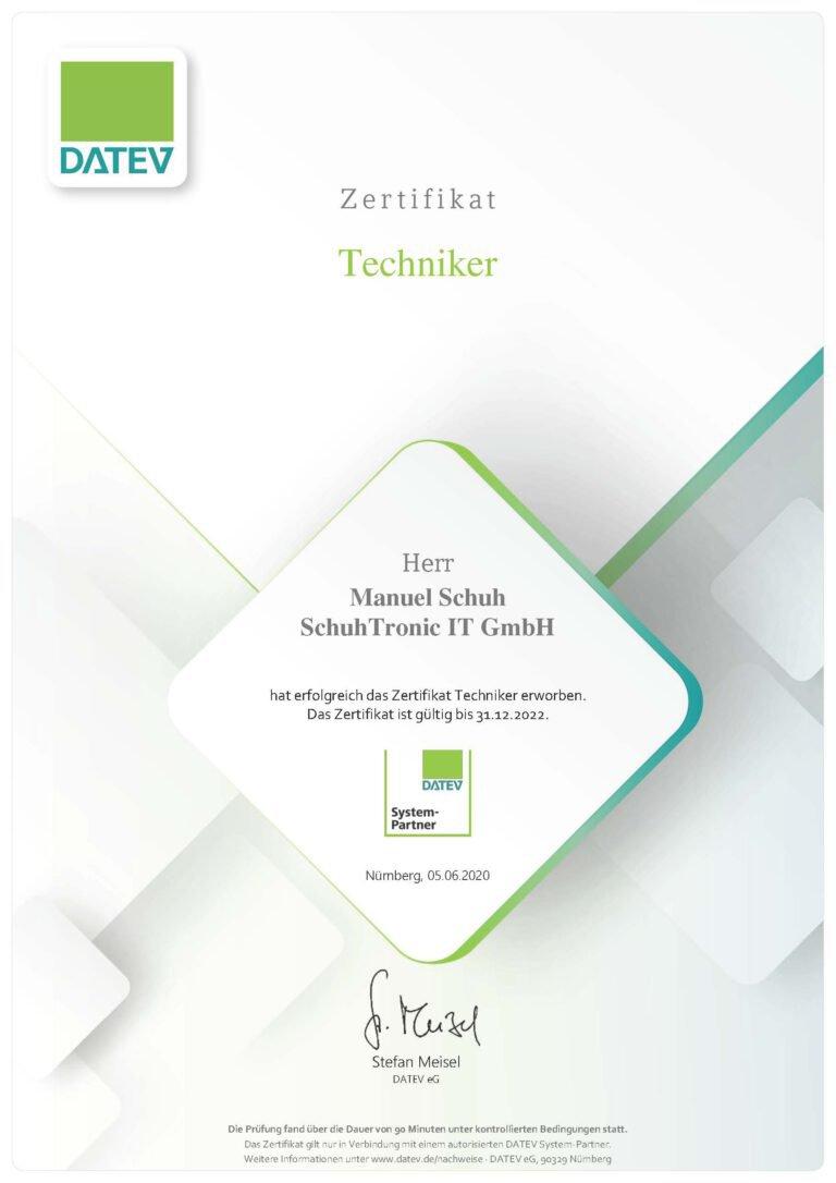 Zertifikat Manuel Schuh_Seite_1